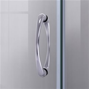 DreamLine Prime 33-in x 33-in x 76-3/4-in H Sliding Shower Enclosure, Shower Base and QWALL-4 Acrylic Backwall Kit, Clear Glass