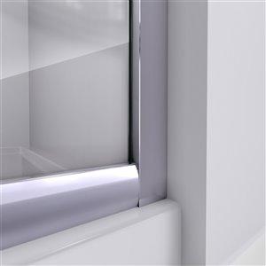 DreamLine Prime 36-in x 36-in x 74-3/4-in Corner Sliding Shower Enclosure and SlimLine Shower Base Kit, Frosted Glass