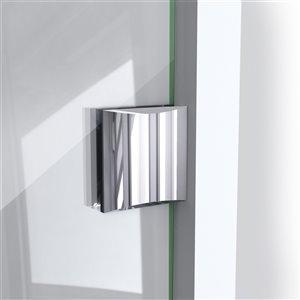 DreamLine Prism Lux 36-in x 36-in x 74-3/4-in H Frameless Hinged Shower Enclosure and SlimLine Shower Base Kit