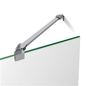 DreamLine Prism Lux 38-in x 38-in x 74-3/4-in H Frameless Hinged Shower Enclosure and SlimLine Shower Base Kit
