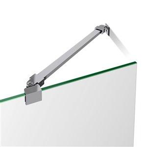 DreamLine Prism Lux 40-in x 40-in x 74-3/4-in H Frameless Hinged Shower Enclosure and SlimLine Shower Base Kit