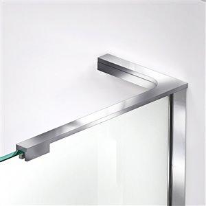 DreamLine Prism Plus 36-in x 36-in x 74-3/4-in Frameless Hinged Shower Enclosure and SlimLine Shower Base Kit