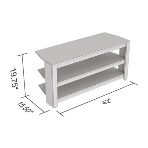 Safdie & Co. TV Stand - 2 Open Shelves - 42-in - Dark Taupe
