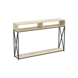 Safdie & Co. Console Table - 2 Open Shelves - 47.25-in - Reclaimed Wood