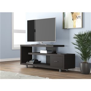 Safdie & Co. TV Stand - 1 Drawer - 60-in - Cappuccino