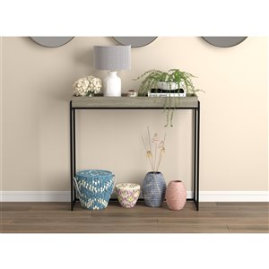 Safdie & Co. Console Table - 35-in - Dark Taupe