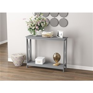 Safdie & Co. Console Table - 1 Shelf - 39.5-in - Grey