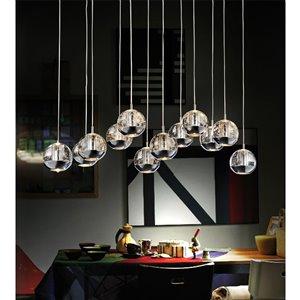 CWI Lighting Perrier Kitchen Island Light - 12-Light - 34-in - Chrome