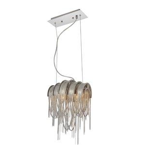 CWI Lighting Shirley Mini Pendant Light - 2-Light - 11-in - Chrome