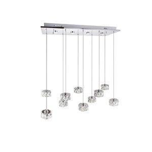 CWI Lighting Milan Pendant Light - LED Light - 28-in - Chrome