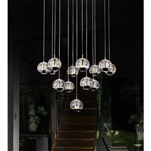 CWI Lighting Perrier Kitchen Island Light - 13-Light - 24-in - Chrome