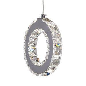 CWI Lighting Ring Pendant Light - LED Light - 16-in - Chrome