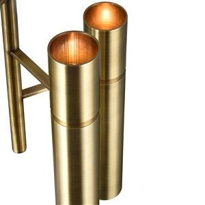 CWI Lighting Lara Mini Pendant Light - 6-Light - 12-in - Brass