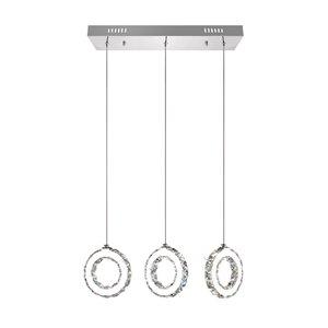 CWI Lighting Ring Pendant Light - LED Light - 24-in - Chrome