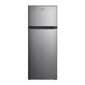 Galanz Top Freezer Refrigerator - 7.6-cu ft - 22-in - Stainless Steel