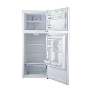 Galanz Top Freezer Refrigerator - 10-cu ft - 24-in - White