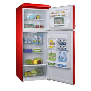 Galanz Retro Top Freezer Refrigerator - 10-cu ft - 24-in - Red