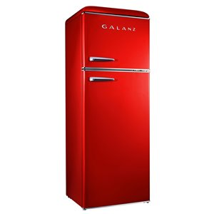 Galanz Retro Top Freezer Refrigerator - 12-cu ft - 24-in - Red