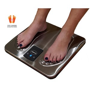 iComfort Foot Warmer with Remote Control - 9 Heat Level - Galvanized Steel
