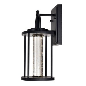 CWI Lighting Greenwood LED Outdoor Wall Lantern Sconce with Black Finish - 7-in x 6-in x 14-in