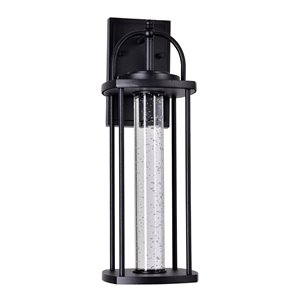 CWI Lighting Greenwood LED Outdoor Wall Lantern Sconce - Black Finish - 7-in x 6-in x 18-in