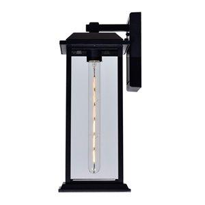 CWI Lighting Blackbridge 1 Light Outdoor Wall Lantern Sconce - Black Finish - 8-in x 7-in x 16-in