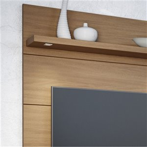 Manhattan Comfort Cabrini 1.2 Floating Entertainment Centre with 3 Shelves - 47.24-in x 67.24-in - Maple Cream/Off White