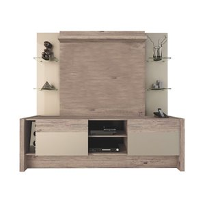 Manhattan Comfort Morning Side Theater Entertainment Centre - 74.2-in x 70.8-in - Nature/Nude