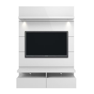 Manhattan Comfort Cabrini 1.2 Floating Theater Entertainment Centre - 47.24-in x 67.24-in - White Gloss