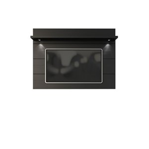 Manhattan Comfort Cabrini Floating Wall TV Panel 1.8 - 71.25-in x 52.28 - Matte Black