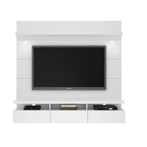 Manhattan Comfort Cabrini 1.8 Floating Theater Entertainment Centre - 71.25-in x 67.24-in - Gloss White
