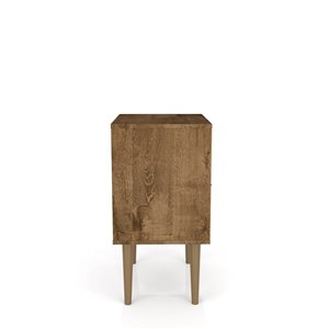 Manhattan Comfort Liberty Nightstand 1.0 with Cubby - 17.72-in x 27.09-in - Rustic Brown