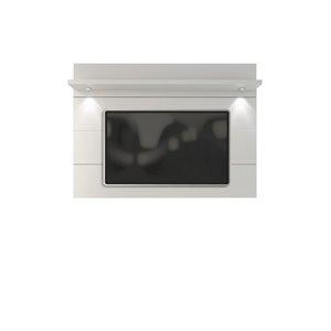 Manhattan Comfort Cabrini Floating Wall TV Panel 2.2 - 85.62-in x 52.28 - Gloss White
