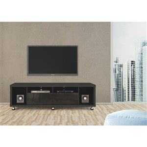 Manhattan Comfort Cabrini TV Stand 1.8 - 71.06-in x 20.86-in x 17.59-in - Gloss/Matte Black