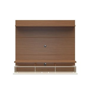 Manhattan Comfort City 1.8 Floating Wall Theater Entertainment Centre - 72.32-in x 63.42-in - Maple Cream/Off White