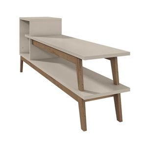 Manhattan Comfort Essence TV Stand with 2 Shelves - 73.82-in x 29.72-in - Off White/Wood
