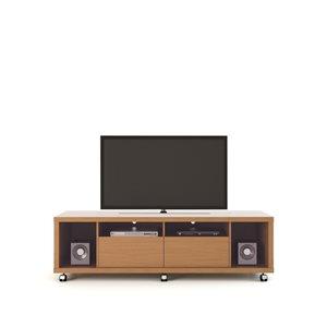 Manhattan Comfort Cabrini TV Stand 1.8 - 71.06-in x 20.86-in x 17.59-in - Maple Cream