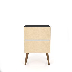 Manhattan Comfort Liberty Nightstand 2.0 with 2 Drawers - 17.72-in x 27.09-in - Black