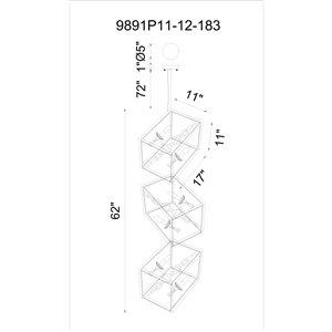 CWI Lighting Tapi Mini Chandelier - 12-Light - 11-in - Luxor Silver
