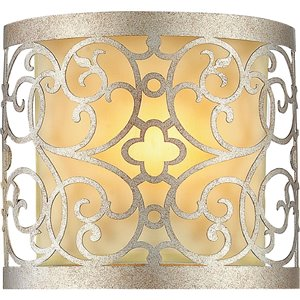 CWI Lighting Alexandra Wall Sconce - 1-Light - 4-in - Rubbed Silver