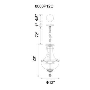CWI Lighting Stefania Mini Chandelier - 4-Light - 12-in - Chrome