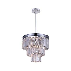 CWI Lighting Weiss Mini Chandelier - 8-Light - 12-in - Chrome