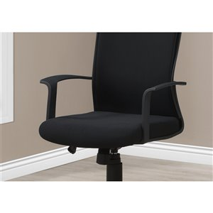 Monarch Specialties Office Chair with High Back Executive - Adjustable Seat Height - Black / Black Fabric