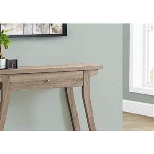 Monarch Specialties Console Table with Storage Drawer - Dark taupe  - 42-in L
