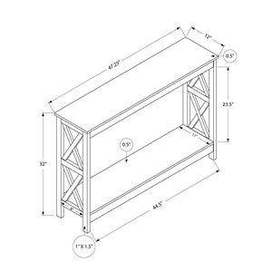 Monarch Specialties Console Table in Grey - 48-in L