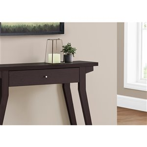 Monarch Specialties Console Table Espresso with Storage Drawer - 42-in L