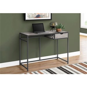Monarch Specialties Computer Desk Grey and Dark Grey Metal - 42-in L