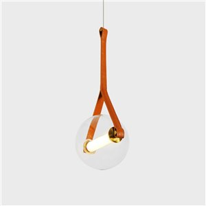 VONN Lighting Salerno LED Pendant Light - 8.75-in - Antique Brass