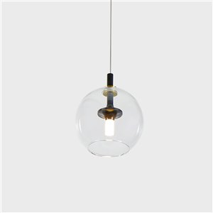 VONN Lighting Portofino LED Pendant Light - 6.5-in - Antique Brass