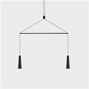 VONN Lighting Expression LED Pendant Light - 25.25-in - Black
